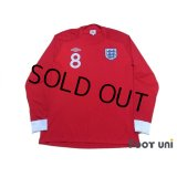 England 2010 Away Long Sleeve Shirt #8 Lampard