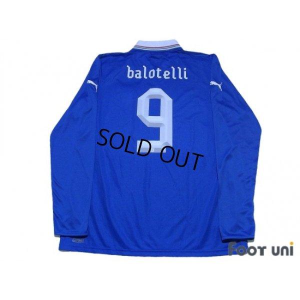 Photo2: Italy Euro 2012 Home Long Sleeve Shirt #9 Balotelli w/tags