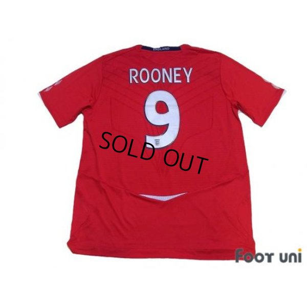 Photo2: England 2008 Away Shirt #9 Rooney w/tags