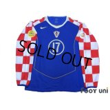 Croatia Euro 2004 Away Authentic Long Sleeve Shirt #17 Klasnic UEFA Euro 2004 Patch / Badge Fair Play Patch / Badge