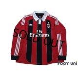 AC Milan 2012-2013 Home Long Sleeve Shirt #92 El Shaarawy