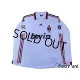 AC Milan 2009-2010 Away Player Long Sleeve Shirt #80 Ronaldinho Lega Calcio Serie A Patch/Badge Champions League Trophy Patch/Badge