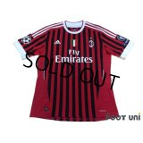 AC Milan 2011-2012 Home Shirt #27 Prince Boateng Scudetto Patch/Badge Respect Patch/Badge