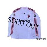 AC Milan 2008-2009 Away Player Long Sleeve Shirt #7 Pato Lega Calcio Serie A Patch/Badge UEFA Champions League Trophy Patch/Badge-7