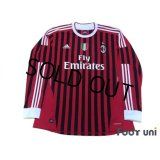 AC Milan 2011-2012 Home Long Sleeve Shirt #9 Inzaghi Scudetto Patch/Badge w/tags