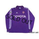 Fiorentina 2004-2005 Home Long Sleeve Shirt #11 Miccoli Lega Calcio Serie A Patch/Badge