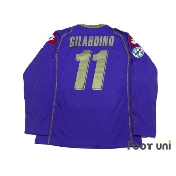 Photo2: Fiorentina 2008-2009 Home Long Sleeve Shirt #11 Gilardino Lega Calcio Serie A Tim Patch/Badge