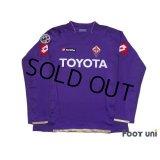 Fiorentina 2007-2008 Home Player Long Sleeve Shirt #10 Mutu Lega Calcio Serie A Patch/Badge