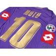 Photo3: Fiorentina 2007-2008 Home Player Long Sleeve Shirt #10 Mutu Lega Calcio Serie A Patch/Badge (3)