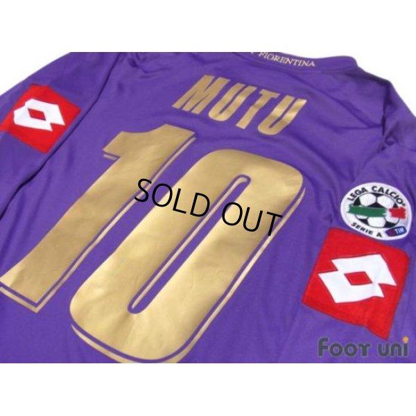 Photo3: Fiorentina 2007-2008 Home Player Long Sleeve Shirt #10 Mutu Lega Calcio Serie A Patch/Badge