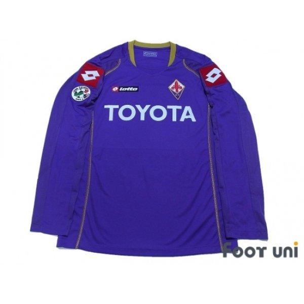 Photo1: Fiorentina 2008-2009 Home Long Sleeve Shirt #11 Gilardino Lega Calcio Serie A Tim Patch/Badge