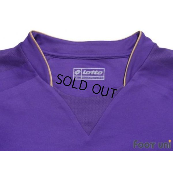 Photo4: Fiorentina 2007-2008 Home Player Long Sleeve Shirt #10 Mutu Lega Calcio Serie A Patch/Badge