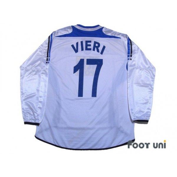 Photo2: Atalanta 2006-2007 Away Long Sleeve Shirt #17 Vieri Lega Calcio Serie A Tim Patch/Badge