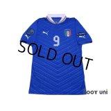Italy 2012 Home Shirt #9 Balotelli
