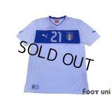 Italy 2012 Away Shirt #21 Pirlo
