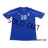 Italy 2010 Home Shirt #10 Cassano