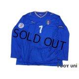 Italy Euro 2008 Home Long Sleeve Shirt #7 Del Piero