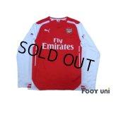Arsenal 2014-2015 Home Long Sleeve Shirt #11 Ozil
