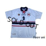 Norway 1998 Away Shirt #9 Tore André Flo