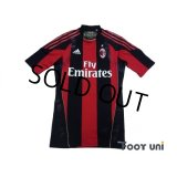 AC Milan 2010-2011 Home Authentic Techfit Shirt #9 Inzaghi