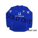 Manchester United 2002-2003 3RD Long Sleeve Shirt #7 Beckham Premier League Patch/Badge