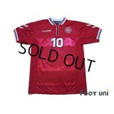 Denmark 2000 Home Shirt #10 M.Laudrup