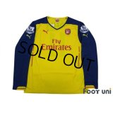 Arsenal 2014-2015 Away Long Sleeve Shirt #11 Ozil w/tags BARCLAYS PREMIER LEAGUE Patch/Badge