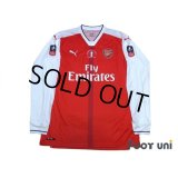 Arsenal 2016-2017 Home Long Sleeve Shirt #11 Ozil The Emirates FA CUP Patch/Badge w/tags