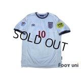 England Euro 2000 Home Shirt #10 Owen UEFA Euro 2000 Patch/Badge UEFA Fair Play Patch/Badge