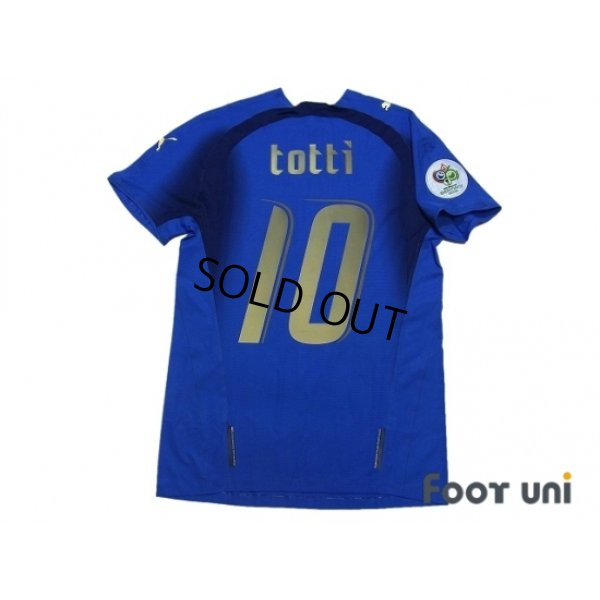 finest selection 8b790 0ac57 Italy 2006 Home Authentic Shirt #10 Totti - Online Store ...