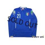 Italy 2014 Home Long Sleeve Shirt #21 Pirlo w/tags