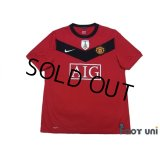 Manchester United 2009-2010 Home Shirt #18 Scholes FIFA World Champions 2008 Patch/Badge