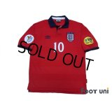 England 2000 Away Shrit #10 Owen UEFA Euro 2000 Patch/Badge UEFA Fair Play Patch/Badge