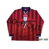 England 1998 Away Long Sleeve Shirt #7 Beckham