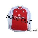 Arsenal 2015-2016 Home Long Sleeve Shirt #24 Bellerin
