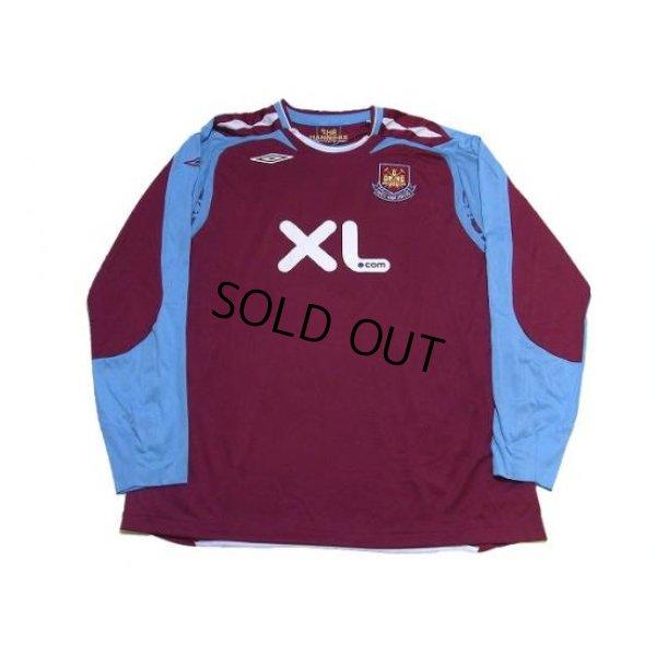 Photo1: West Ham Utd 2007-2008 Home Long Sleeve Shirt #5 Ferdinand