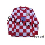 Croatia 2010 Home Authentic Long Sleeve Shirt #10 Modric w/tags