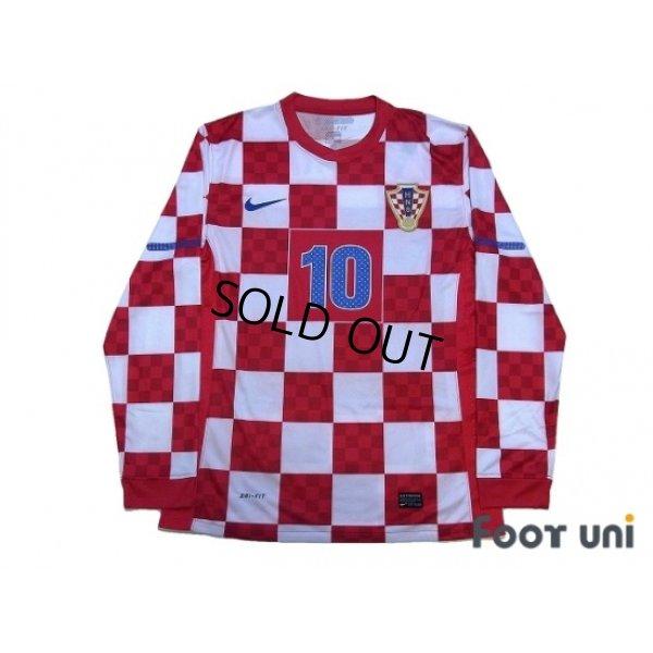 new style 4a7f0 12a5f Croatia 2010 Home Authentic Long Sleeve Shirt #10 Modric ...