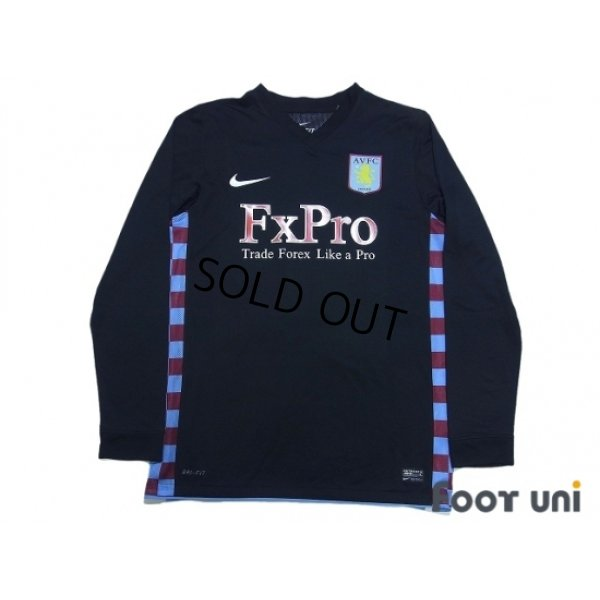 Photo1: Aston Villa 2010-2011 Away Authentic Long Sleeve Shirt #8 Pires w/tags