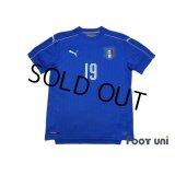 Italy Euro 2016 Home Shirt #19 Bonucci