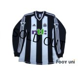 Newcastle 2001-2003 Home Long Sleeve Shirt #9 Shearer The F.A. Premier League Patch/Badge