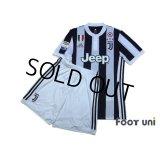 Juventus 2017-2018 Home Authentic Shirt and Shorts Set #10 Dybala