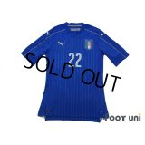 Italy 2016 Home Authentic Shirt #22 El Shaarawy w/tags