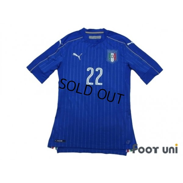Photo1: Italy 2016 Home Authentic Shirt #22 El Shaarawy w/tags