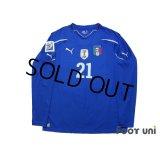 Italy 2010 Home Long Sleeve Shirt #21 Pirlo w/tags