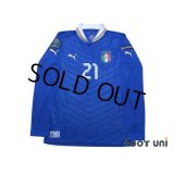 Italy 2012 Home Long Sleeve Shirt #21 Pirlo UEFA Euro 2012 Patch/Badge Respect Patch/Badge w/tags
