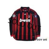 AC Milan 2006-2007 Home Match Issue Long Sleeve Shirt #99 Ronaldo