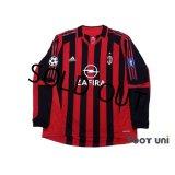 AC Milan 2005-2006 Home Match Issue Long Sleeve Shirt #7 Shevchenko