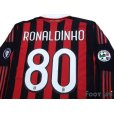 Photo4: AC Milan 2009-2010 Home Long Sleeve Shirt #80 Ronaldinho (4)