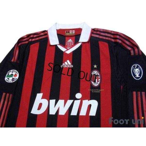 Photo3: AC Milan 2009-2010 Home Long Sleeve Shirt #80 Ronaldinho